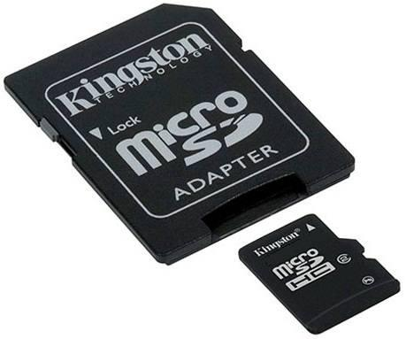 SD Micro  16GB HC Kingston 1Adapter CL4 SDC4/16GB