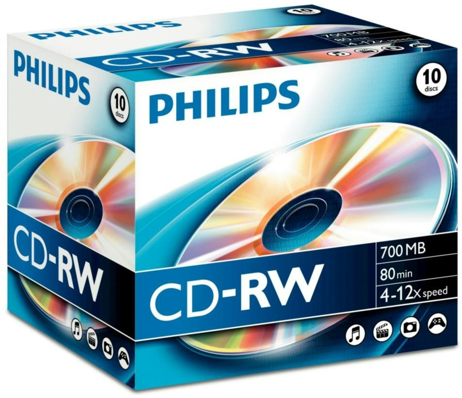 CD lemez Philips 80' RW 12x