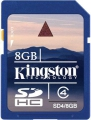 SD  8GB HC Kingston CL4 SD4/8GB